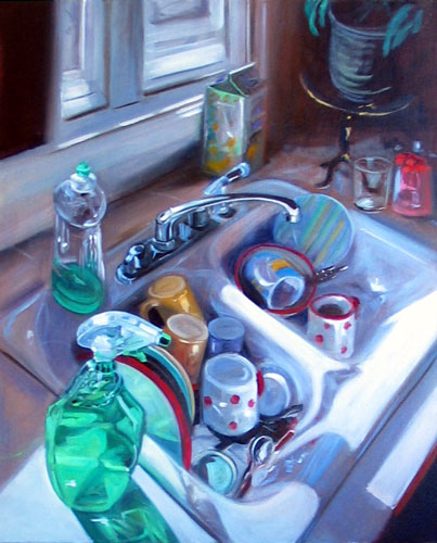 Kitchen Sink, oil on canvas 2007