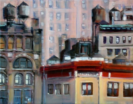 Rooftops, oil on canvas 2006