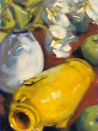 """oil demo, 9x12"""" canvas pad"""