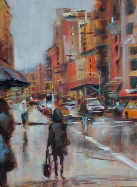 """Feels Like Monday"", acrylic on canvas, will be featured in tomorrow's auction at the Salmagundi Club"