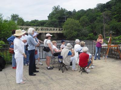 plein air demo for the NJ Society of Plein Air Painters