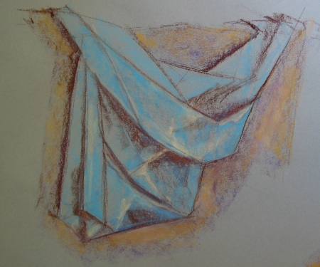 fabric study, pastel on Canson Mi-Tientes paper