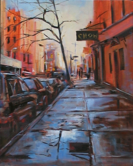Chow Bar (West 10th & 4th Street, NYC), oil on canvas, 16x20 in.