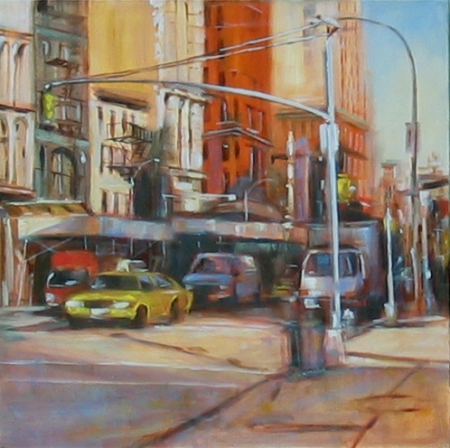 10th & Broadway, oil on canvas, 20x20 in.