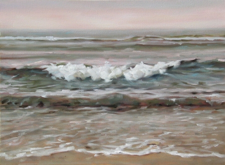 Early Evening, Nauset Beach - oil on canvas, 18x24 in.