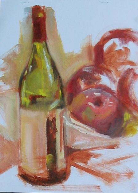 alla prima demo, oil on canvas pad, 9x12 in.
