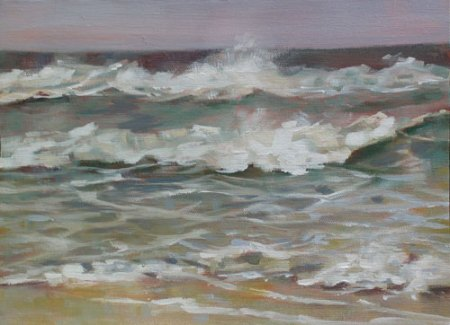 Storm at Marconi Beach, acrylic on canvas, 9x12 in.
