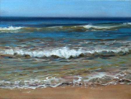 Surf at Marconi Beach, oil on canvas, 18x24 in.