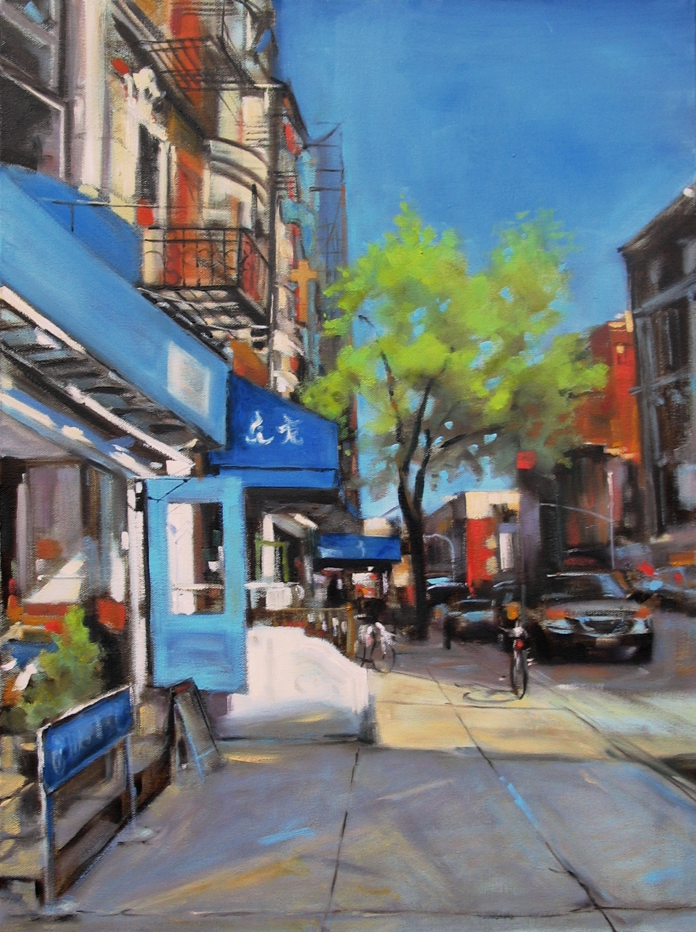 Blue door broome street nyc loosen up for Mural on broome street