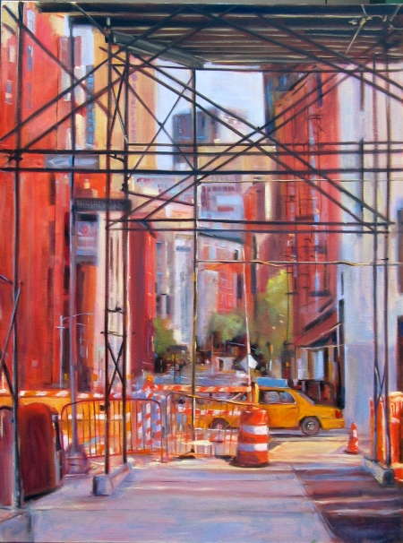 Underpass (Hudson & Harrison Streets, NYC), oil on canvas, 30x40 in.