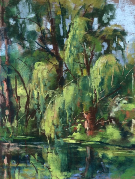 Willow - plein air pastel, 8x10 in., another piece that is available in my Summer Studio Sale