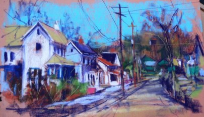 East Main Street, High Bridge, NJ - plein air pastel