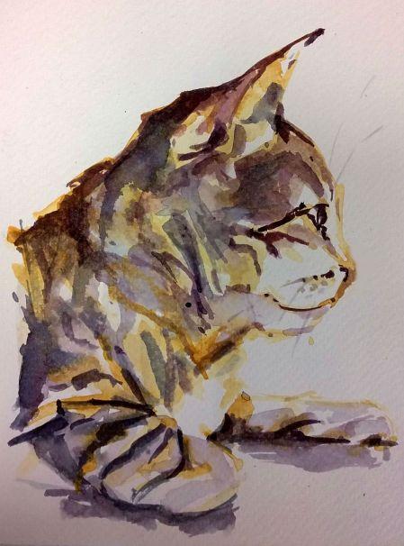 """Jake"" watercolor 5x7 in."
